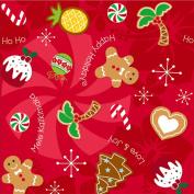 Holiday Delights Hawaiian Christmas Cookies Gift Wrap Paper / 2 Rolls
