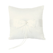 FOREVER YUNG Elegant Ring Pillow For Wedding Ceremony Party 20*20cm Ivory