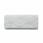 Elegant Lace Floral Fabric Flap Clutch Evening Bag - Diff Colours Avail