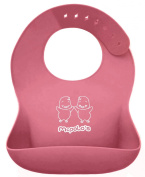 """McPolo's BABYSOFT iBib ® - the """"iPhone"""" in Silicone Baby Bib World from U-Essae - Fitting MORE Growing Babies 3 Months to 6 Year-Old Toddlers & PreSchoolers comfortably with Smart Buttons"""