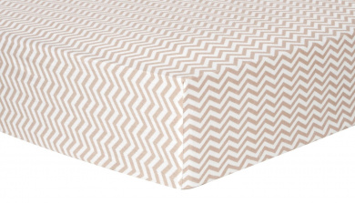 Trend Lab Chevron Deluxe Flannel Fitted Crib Sheet, Doe
