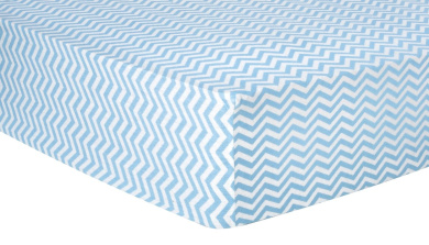 Trend Lab Chevron Deluxe Flannel Fitted Crib Sheet, Blue