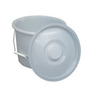 11.4l Pail w/Lid And Wire Handles