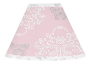 Pink, Grey and White Shabby Chic Alexa Damask Butterfly Baby, Childrens Lamp Shade