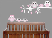 Pink Owl Wall Decals / Owl Stickers / Owl Nursery Wall Decor