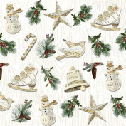 40 pc Lunch Paper Napkins Holiday Christmas WINTER LODGE 3331807