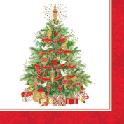 40 pc Lunch Paper Napkins Winter Holiday Christmas SPIRIT TREE Germany 7041