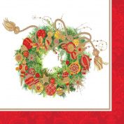 40 pc Lunch Paper Napkins Winter Holiday Christmas SPIRIT WREATH 3331653