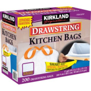 Kirkland Signature Drawstring Kitchen Trash Bags - 49.2l - 600 Count,Kirkland-yj