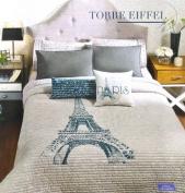 . Paris Eiffel Reversible Comforter & Sheet Set (7pcs) King