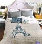 . Paris Eiffel Reversible Comforter Set King