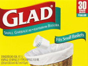 Glad Small Trash Bags, 15.1l, 30 Count