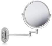 Jerdon JP7507CB 20cm Wall Mount Makeup Mirror with 7x Magnification, Chrome Beaded Finish