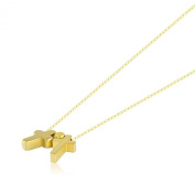 Delicate Layering Necklace, Cute Charm, Small Plated Gold Necklace Cross, . Chic Necklace Charm
