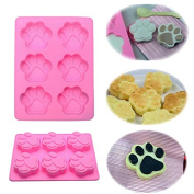 6-Cat's Paw Silicone Cake Mould Ice Cube Chocolate Cupcake Soap Mould