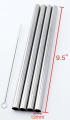 4 SUPER WIDE Stainless Steel 24cm Long x 1.3cm Wide Drink Straw Smoothie Thick Milkshake -CocoStraw Brand