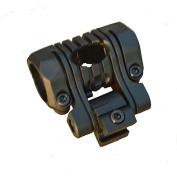 LVLing 2.5cm Offset Adjustable 180 Degree Angle High Abrasion Resistance Polypropylene Composites 2.5cm Ring Side Mount for Flashlight/ Laser / Scope