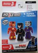 3D Character Creator DC Comics Super Heroes Basic Refill Pack #1 The Flash Batman The Joker
