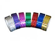 Hula Hoop Tape - Prism Tape - 1.3cm . X 7.6m 7 Colour Set