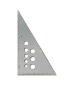 Alumicolor Aluminium Calibrated Triangles 25cm . 30/60/90
