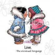 Stamping Bella Cling Rubber Stamp 17cm x 11cm -Eskimo Kisses