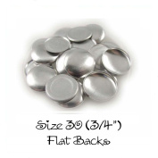 Cover Buttons - 1.9cm (SIZE 30) - FLAT BACKS - QTY 25