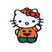 Hello Kitty Pumpkin Patch Hello Kitty Sew on Iron on Patch, HKPa:01