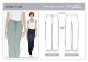 Style Arc Sewing Pattern - Anna Pant - Sizes 18-30 - Click for Other Sizes Available