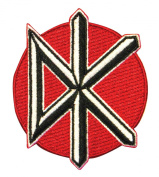 """Dead Kennedys """"DK"""" Band Logo Punk Rock Music Embroidered Iron On Applique Patch"""