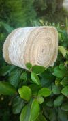 7.6cm Burlap Lace Ribbon (Ivory) 5 Yards