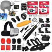 Xtech® GoPro Hero 32GB Memory Accessory KIT for GoPro Hero4 Session, Hero4 HERO 4, Hero 3, Hero 3+ Hero 2 Hero2 and All GOPRO HERO Cameras Includes