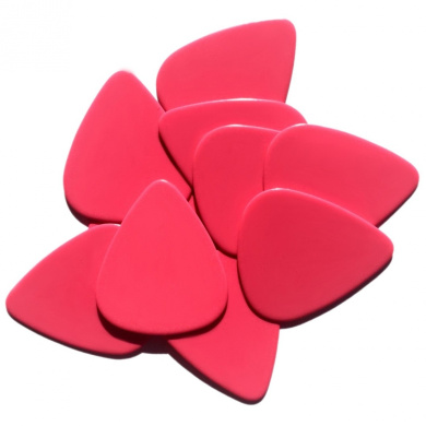 Pink Guitar Picks - Medium Gauge (.72 mm) - 10 Pack