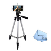 130cm Camera Tripod for ALL Smartphones, Phablets, Cameras & Camcorders + Water Resistant Carrying Case + Frenzy Deals Microfiber Cloth