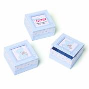 Gund Baby Keepsake Boxes, Blue, (Set of 3)