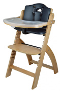 Abiie Beyond Wooden High Chair with Tray.The Perfect Seating Highchair Solution for Your Child As Toddler's or a Dining Chair (6 Months & up)