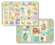 Kid's Reversible Wipe-clean Placemat Alphabet Zoo / Circus