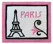 Paris French Eifell Tower Accent Floor Rug by Sweet Jojo Designs
