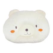Dianoo Good Quality Hot Soft Cotton & Velvet Newborn Baby Anti-roll Pillow Prevent Flat Head Sleeping Positioner Cute Bear - yellow