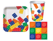 Building Blocks Birthday Party Pack for 8 Guests