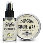 Wild Willies Stache Wax & Stache Wax Remover Combo Package! Get A Better Deal When You Purchase Both!