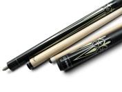 Champion ST Billiards Pool Cue stick, White/Black/No Case, Champion Pool Glove, 3 cue tips