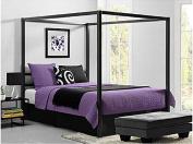 Bakersfield European-Style Metal Canopy Bed