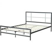 Hanover HBEDLINC-FL Lincoln Square Metal Platform Bed Frame, Full, Black