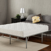 Sleep Master 15cm Coil Mattress and Easy to Assemble Smart Platform Metal Bed Frame, Twin