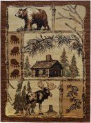 Rugs 4 Less Collection Cabin Style Lodge Area Rug Design R4L 362