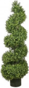 One 120cm Artificial Boxwood Spiral Topiary Tree Potted