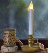 Single Cordless Battery Candle with Timer, in Antique Gold