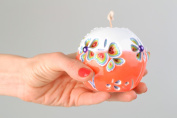 Paraffin Ball Candle with Carved Patterns