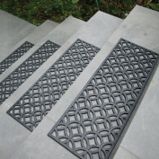 Rubber-Cal Azteca Indoor Outdoor Stair Treads Rubber Step Mats, 25cm by 80cm