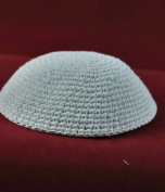 Kippah Beautiful white knitted 20 cm - white only